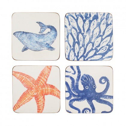 Creatures Coasters Set/4: click to enlarge