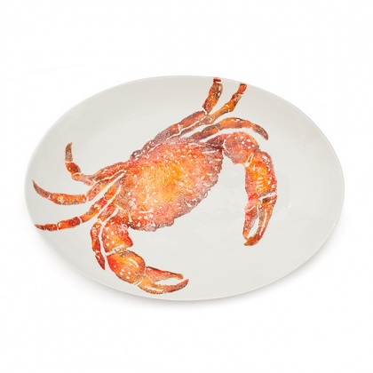 Crab Oval Platter: click to enlarge