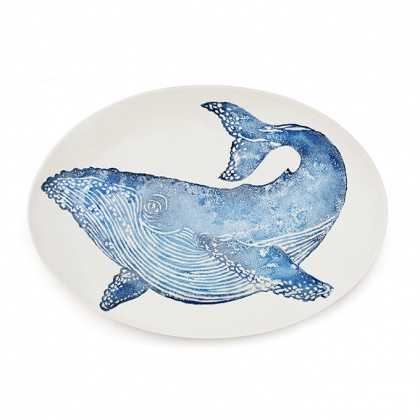 Whale Oval Platter: click to enlarge