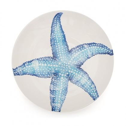 Serving Bowl Starfish Blue: click to enlarge