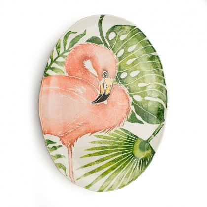 Giant Oval Platter Flamingo: click to enlarge
