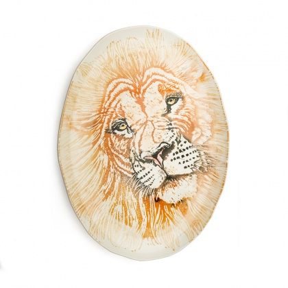 Giant Oval Platter Lion: click to enlarge