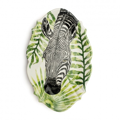 Giant Oval Platter Zebra: click to enlarge