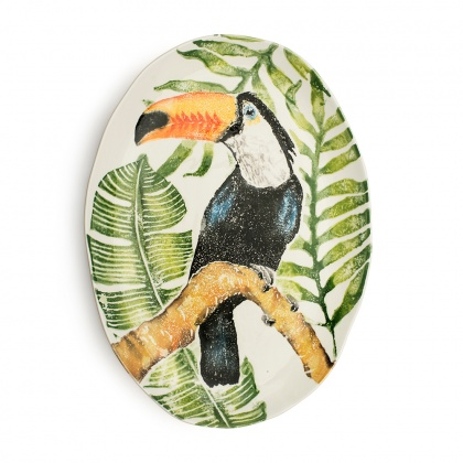 Oval Platter Toucan: click to enlarge