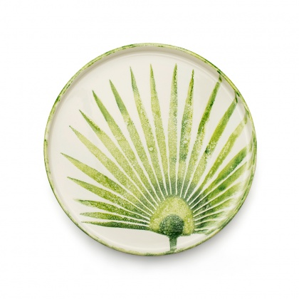 Round Tray Fan Palm Leaf: click to enlarge