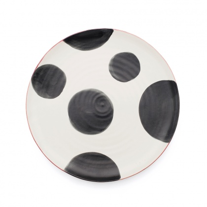 Spots Charcoal Dinner Plate: click to enlarge