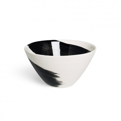 Swish Charcoal Cereal Bowl: click to enlarge