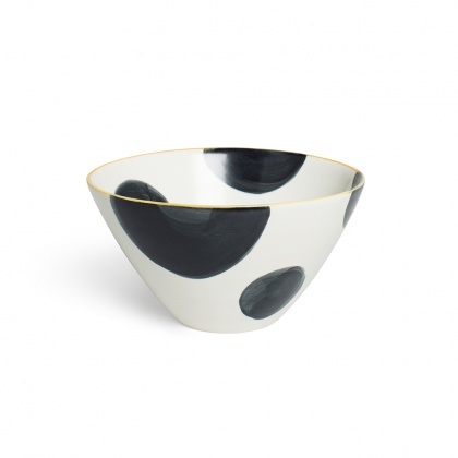 Spots Charcoal Cereal Bowl: click to enlarge