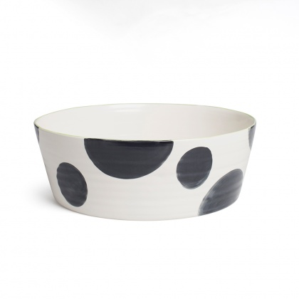 Spots Charcoal Tapered Wide Bowl: click to enlarge