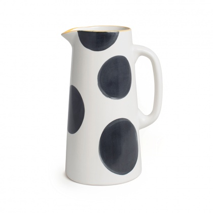 Spots Charcoal Jug Tall: click to enlarge