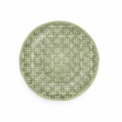 Side Plate Mosaic Green: click to enlarge