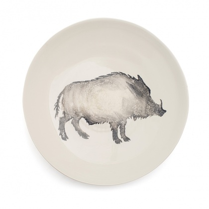 Wild Boar Serving Bowl Large Grey: click to enlarge