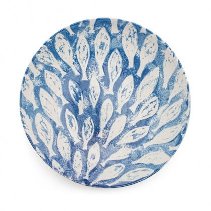 Fish Shoal Serving Bowl Large Blue: click to enlarge