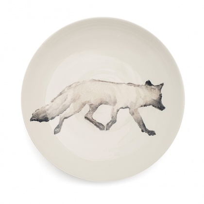 Fox Serving Bowl Large Grey: click to enlarge