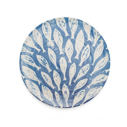 Fish Shoal Platter Blue: click to enlarge