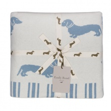 Dachshund Throw Blue