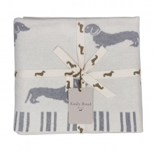 Dachshund Throw Grey