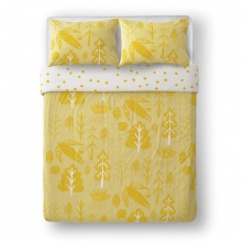 Flying Bird Bed Linen Yellow