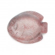 Fish Platter Wide Burgundy/Aqua