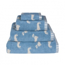 Dachshund Towels Blue