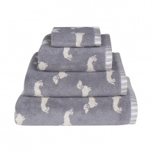 Dachshund Towels Grey
