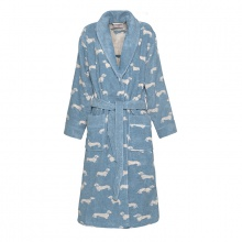 Dachshund Bathrobe Blue