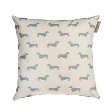 Dachshund Blue Cushion