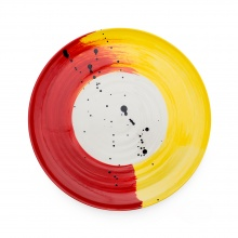 Swish Red & Yellow Platter