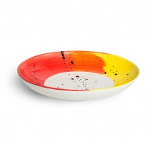 Swish Red & Yellow Supper Bowl