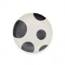 Spots Charcoal Side Plate