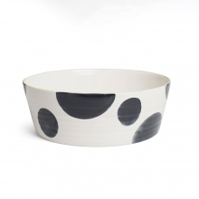 Spots Charcoal Tapered Wide Bowl