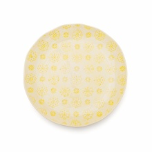 Dinner Plate Lace Yellow
