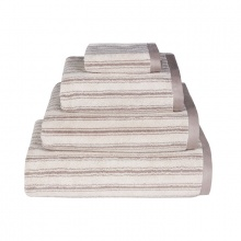 Stripe Towels Brown