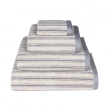 Stripe Towels Grey