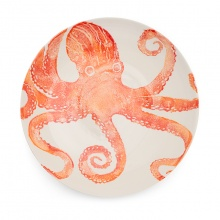 Octopus Serving Bowl Large Orange