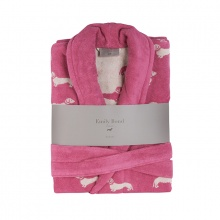 Dachshund Bathrobe Pink