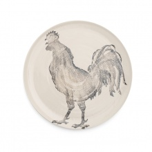 Cockerel Platter Grey