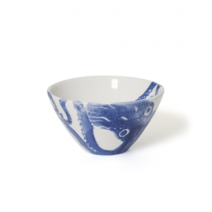 Soup Bowl Octopus Blue: click to enlarge