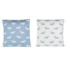 Dachshund Cushion Blue