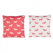 Dachshund Cushion Pink