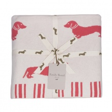 Dachshund Throw Pink