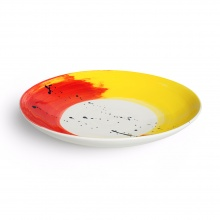 Swish Red & Yellow Serving Bowl