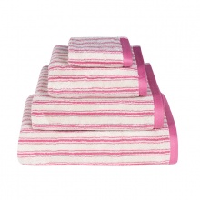 Stripe Towels Pink